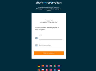 Check my reservation login page
